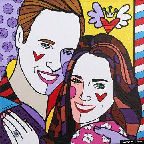 Kate Middleton And Prince William In Pop Art Pictures By Romero