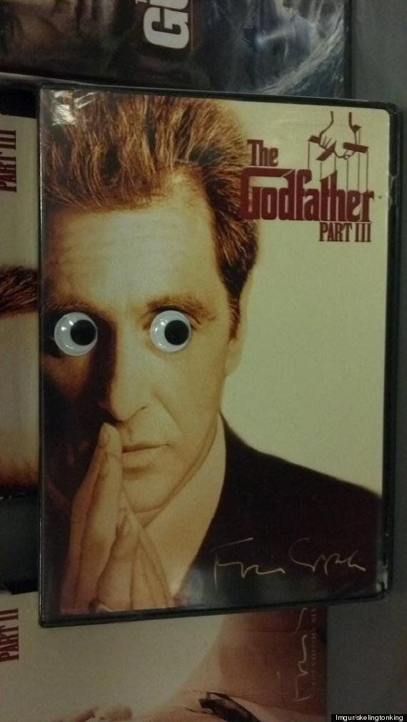 Guy Puts Googly Eyes On Things In A Shop