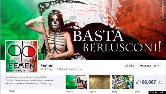 Silvio Berlusconi Ambushed By Topless FEMEN Activists During Italian Elections At Polls