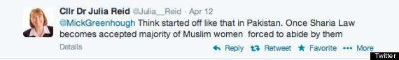 Ukip Candidate Julia Reid Distances Herself From 'Ban Islam'