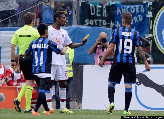 AC Milan Players Have Bananas Thrown At Them During Match Against