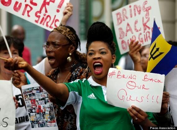 #Bringbackourgirls Protesters Deliver Petition To Downing Street After Marching Through London