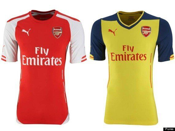 on sale 75d39 d5b2c Arsenal New Kit: Gunners Unveil 2014-15 Puma Strip (PICTURES ...