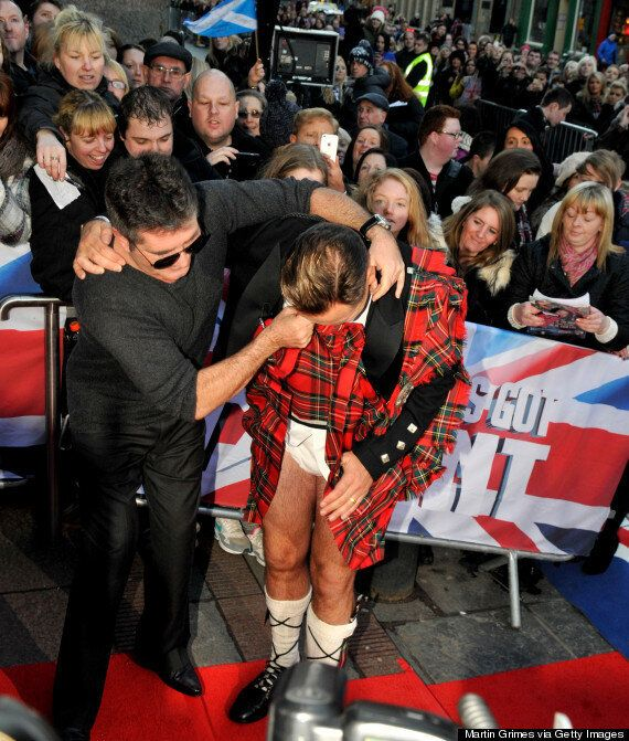 'Britain's Got Talent' Auditions: Simon Cowell Lifts David Walliams' Kilt On The Red Carpet