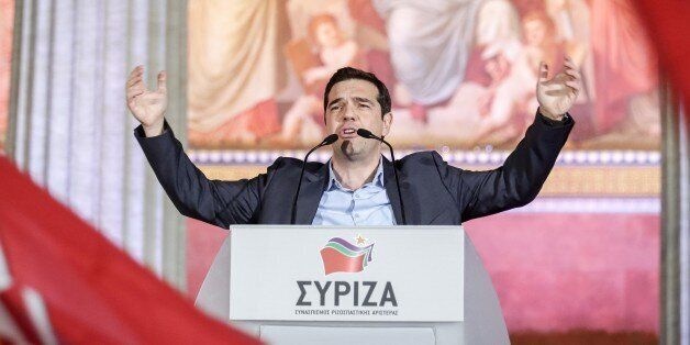 The New Greek Prime Minister Alexis Tsipras REALLY Likes Putting His Hands In The