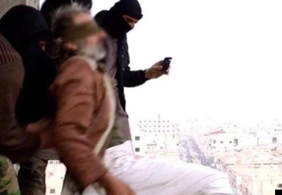 Islamic State Militants Throw Blindfolded 'Gay' Man Off Roof Then Beat Him To Death When He