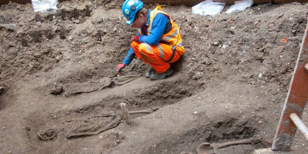 In this undated but recent photo supplied Friday March 15, 2015, by the London Crossrail Project, showing...