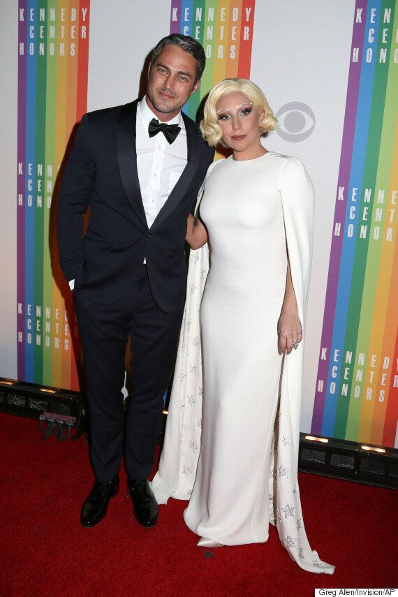 Lady Gaga Engaged! Singer Flashes Heart-Shaped Diamond Engagement Ring After Boyfriend Taylor Kinney...