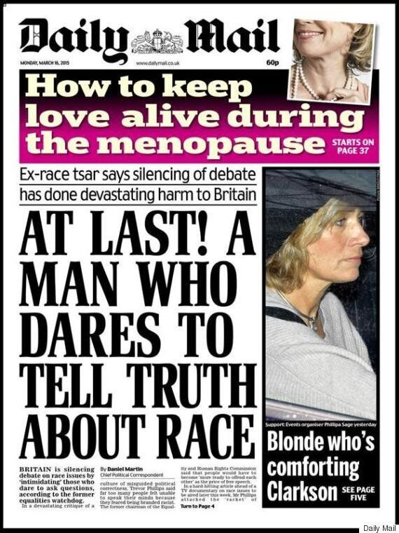 Trevor Phillips Racism Article Has Unleashed The Daily Mail