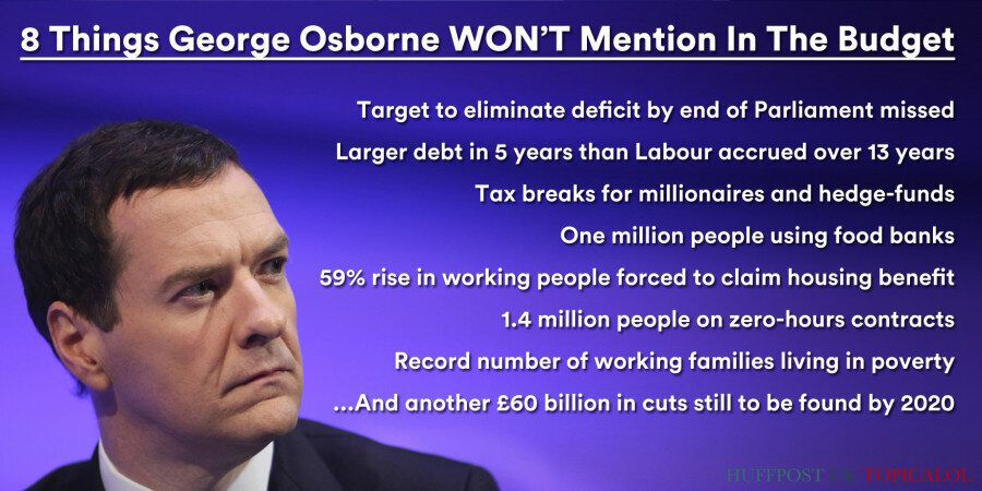 Budget 2015: 8 Things George Osborne WON'T