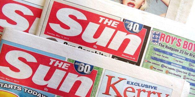 General view of The Sun Newspaper who are planning on posting free promotional copies of the paper. The...