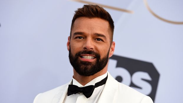 Ricky Martin arrives at the 25th annual Screen Actors Guild Awards at the Shrine Auditorium & Expo Hall on Sunday, Jan. 27, 2019, in Los Angeles. (Photo by Jordan Strauss/Invision/AP)