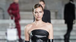 Irina Shayk Slays Runway In Black Leather A Week After Bradley Cooper