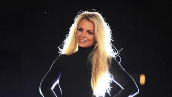 """Photo by: Raoul Gatchalian/STAR MAX/IPx 2018 10/18/18 Britney Spears at the announcement of her new residency, """"Britney: Domination"""" at Park MGM in Las Vegas, Nevada. She will perform 32 shows at Park Theatre starting in February 2019."""