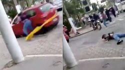 Carro atropela mulher e deixa manifestantes feridos em ato da greve geral em