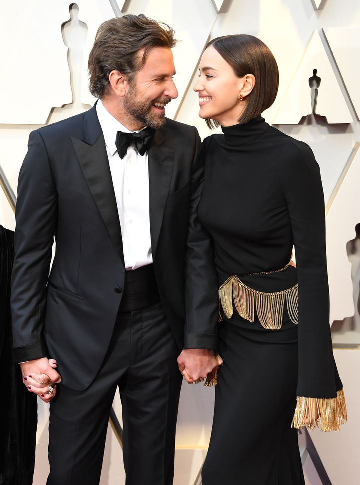 Bradley Cooper and Irina Shayk attend the 91st annual Academy Awards.