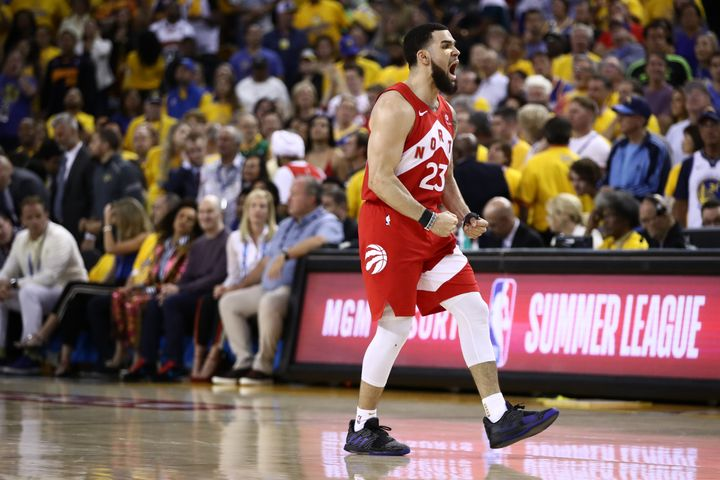 Fred VanVleet remembering that he forgot to pick up diapers.