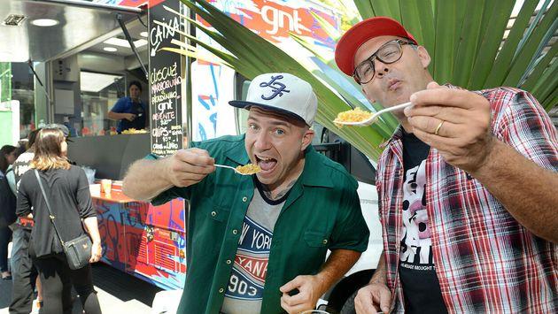 Adolfo Schaefer eMárcio Silva no programa Food Truck – A Batalha, que comandaram no...