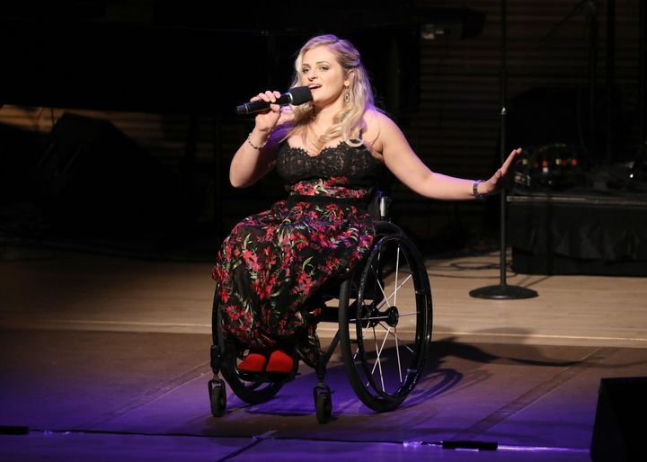 """Ali Stroker performs onstage during """"Broadway's Best Comes Together to Salute Chita Rivera at Touch the Sky"""" bene"""