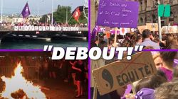 Clitoris géant, autodafé symbolique et foule violette: en Suisse, la grève des femmes a fortement