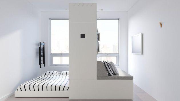 침대, 책상,소파,옷장으로 쓸 수 있는 변신형
