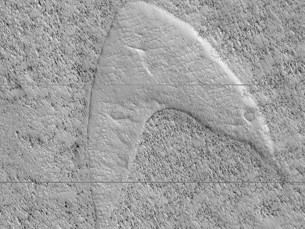 A dune cast, or ghost dune, on Mars that looks strikingly similar to the