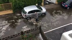 Pluies de grêle, rues inondées: les images de l'orage qui a traversé
