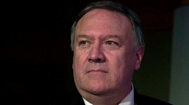 Secretary of State Mike Pompeo arrives to speak during a media availability, at the State Department, Thursday, June 13, 2019, in Washington. Pompeo says Iran is believed to be responsible for attacks on 2 tankers near Persian Gulf. (AP Photo/Alex Brandon)