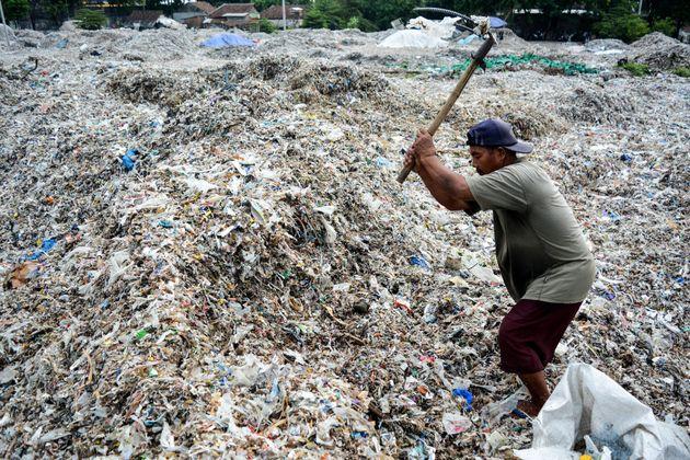 Déchetterie de Mojokerto, Indonésie, décembre