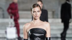Irina Shayk Slays Runway In Black Leather A Week After Bradley Cooper