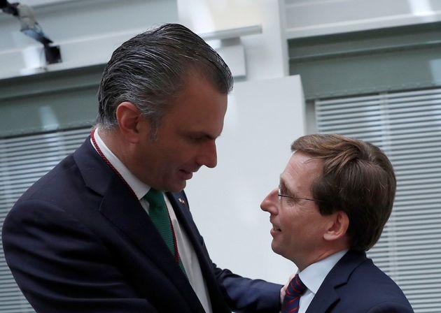 Javier Ortega Smith y José Luis Martínez