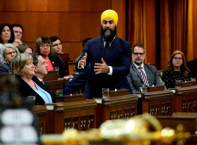 NDP Leader Jagmeet Singh speaks in the House of