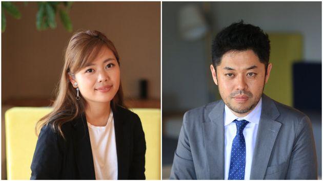 (左から)シェアライフを提唱する石山アンジュさんさんと、実は内向的だった「ハフポスト日本版」の竹下隆一郎編集長