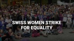 Swiss Women Take To The Streets To Protest Gender