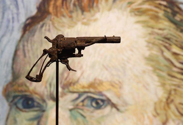 Le revolver de marque Lefaucheux dont la vente aux enchères a lieu le 19 juin à l'Hôtel