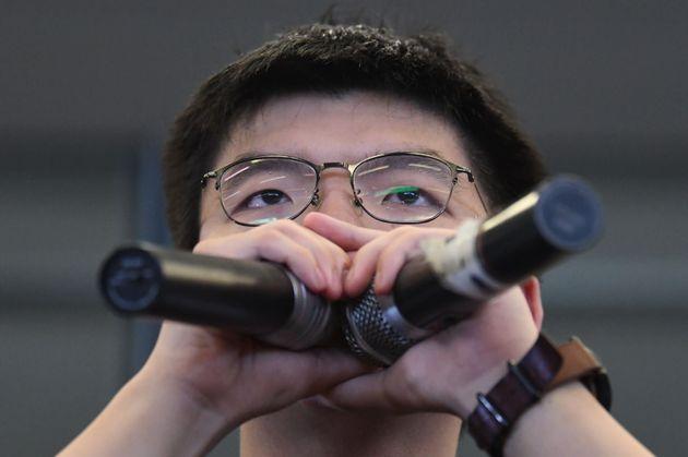 '우산 혁명' 조슈아 웡도 홍콩 범죄인 인도법 철회 시위에