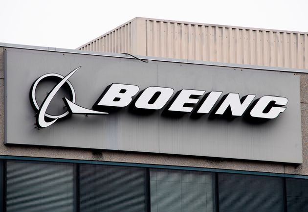 The Boeing logo is seen here in Maryland in March. The U.S. company is trying to win back trust after...