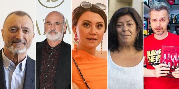 De izquierda a derecha: Arturo Pérez-Reverte, Fernando Aramburu,Camilla Läckberg, Almudena...