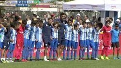 Los niños del Málaga paran un partido en plena discusión de sus padres en la