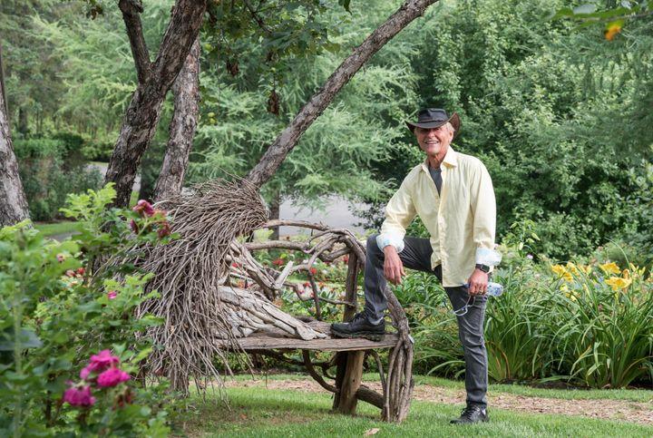 Le propriétaire du jardin privé, François Marcil