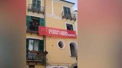 Digos denunciata a Salerno per la rimozione dello striscione
