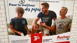 L'affiche Auchan dans le métro ne montrait pas deux papas