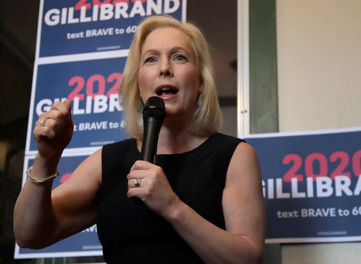 Democratic Presidential candidate Sen. Kirsten Gillibrand, D-NY, speaks at a campaign event, Friday, June 14, 2019, in Frankl