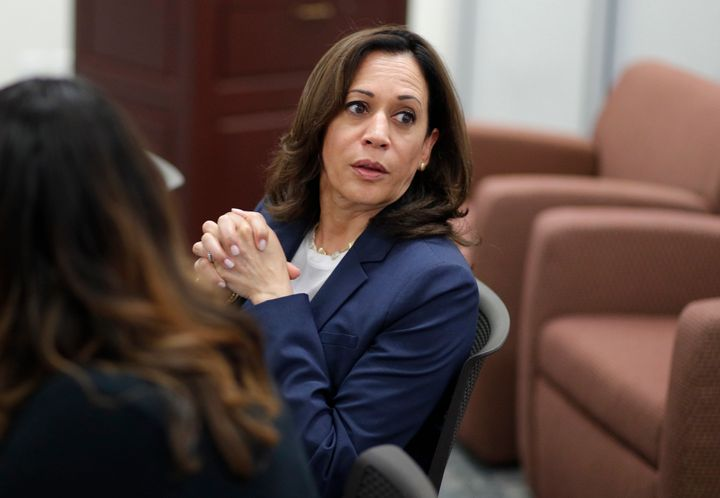 Dating from her time as San Francisco district attorney, Kamala Harris kept discussions about immigration at arm's leng
