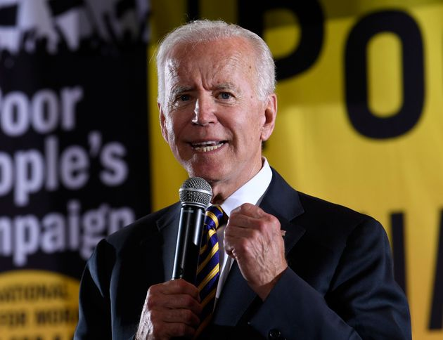Democratic presidential candidate and former Vice President Joe Biden speaks at the Poor People's Moral...