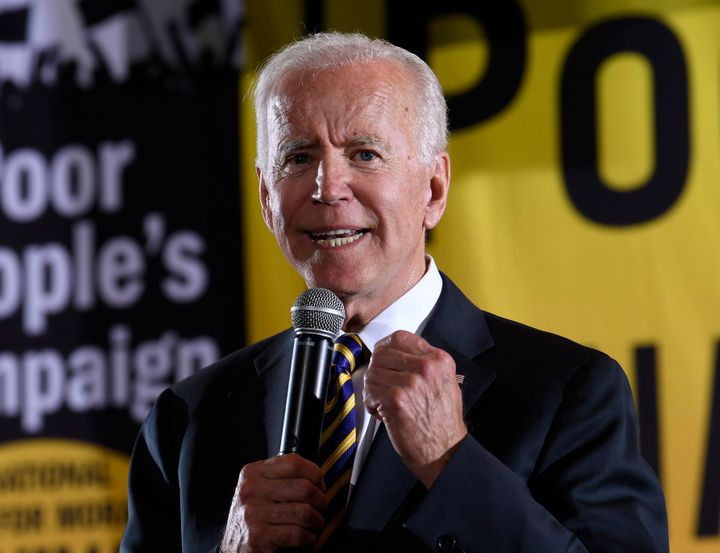 Democratic presidential candidate and former Vice President Joe Biden speaks at the Poor People's Moral Action Congress presi