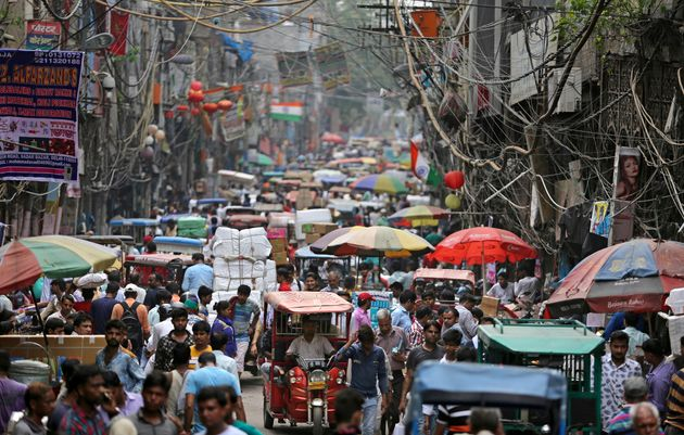 A market place in New Delhi, India. The country is among nine that will be responsible for more than...