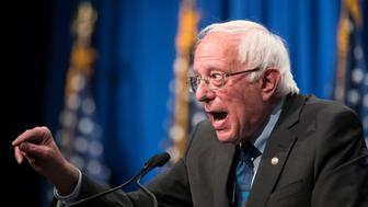 WASHINGTON, DC - JUNE 12: Democratic presidential candidate Sen. Bernie Sanders (I-VT) delivers remarks at a campaign function in the Marvin Center at George Washington University on June 12, 2019 in Washington, DC. Sanders discussed democratic socialism in his address. (Photo by Sarah Silbiger/Getty Images)