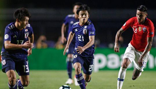 南米選手権の初戦、サッカー日本代表が0-4でチリに大敗。久保建英が初先発も得点奪えず