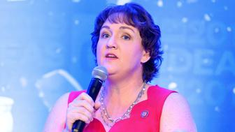 WASHINGTON, DC, UNITED STATES - 2019/05/22: Rep. Katie Porter (D-CA) speaking at The Center for American Progress CAP 2019 Ideas Conference. (Photo by Michael Brochstein/SOPA Images/LightRocket via Getty Images)